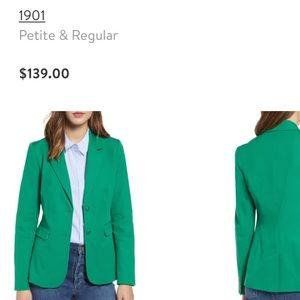1901 Kelly green blazer size 10